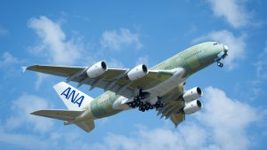 ANA's first of three Airbus A380s takes maiden flight